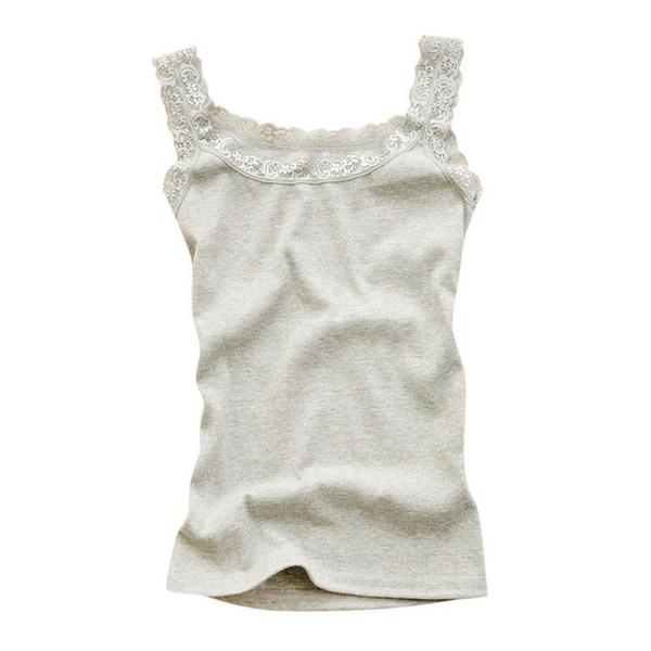 Seksi Kadınlar Dantel Tank Tops Yelek T-shirt Kolsuz Mizaç Moda O-Boyun Kaşkorse Üst Kadın Çiçek Düz Renk Ev Tekstili
