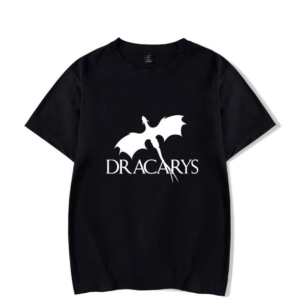 Dracarys Women T shirt Game of Thrones Daen White T-shirt Summer Harajuku T Shirt Mother of Dragon Tee Shirt Camisetas Mujer