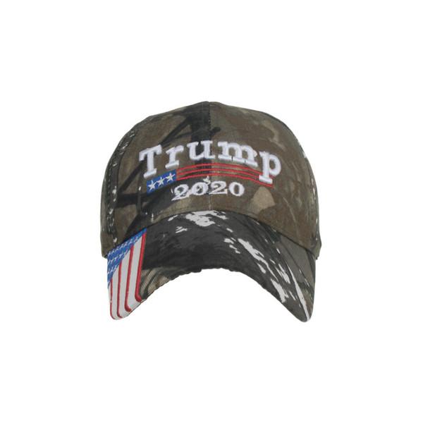Camouflage Donald Trump 2020 Chapeau Drapeau USA casquette de baseball Garder L'Amérique Grand Chapeau 2020 Broderie 3D Lettre Étoile Camo réglable Snapback