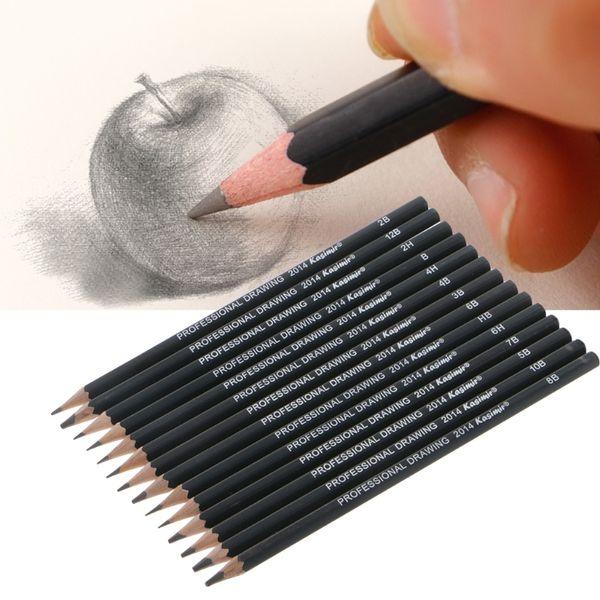 2018 New 14Pcs Professional Drawing Sketch Pencil Art Artist Craft School Supplies Set
