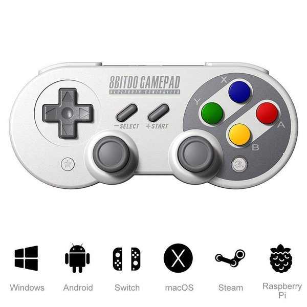 Controlador de juego inalámbrico Bluetooth Gamepad 8bitdo SF30Pro / SN30pro para Switch, Windows, Android, MacOS, Steam, Nintendo Switch