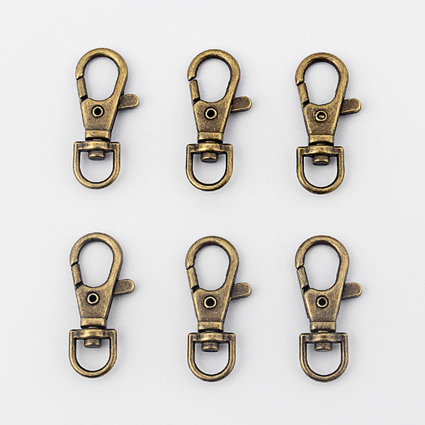 10pcs Bronze Alloy Lobster Claw Clasps Hooks Hook Jewelry Necklace DIY Connectors jewelry findings