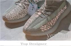 Лучшие роскошные дизайнерские мужчины и женщины V2 зебра статического крем кунжутного Kanye West ога Clay Правда Форма гиперпространство 3M Wave Runner кроссовок T1B2
