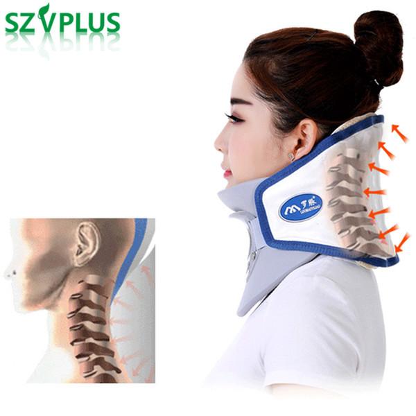 Collare Massaggio Cervicale.Acquista Collare Cervicale Corretto Dispositivo Di Trazione Del Rachide Cervicale Collare Gonfiabile Attrezzature La Casa Assistenza Sanitaria