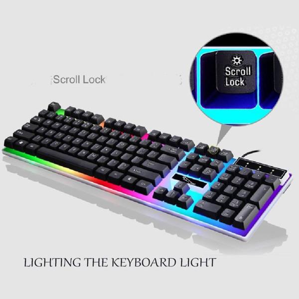Kit de charge de clavier USB de la lumière de la souris pour équipement de jeu Rainbow LED