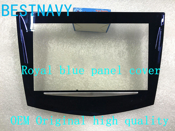 best selling Free DHL EMS Royal blue appearance CUE touch screen High quality for Cadillac ATS CTS SRX XTS CUE car DVD Cadillac touch display digitizer