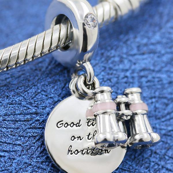 Beads Jóias Pulseira / pulseira 925-Sterling Silver Heart Pandora Moda Esmalte Feminino
