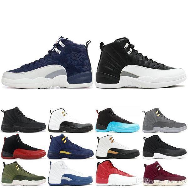 Herren 12 12s New Basketball Schuh Gym Rot Michigan Dunkelgrau The Master OVO Wool XII Herren Designer Sport Sneaker Trainer 40-47