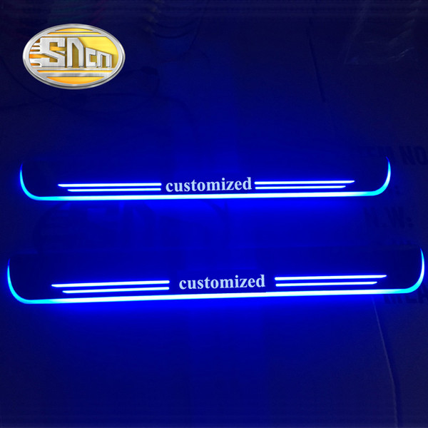 wholesale Waterproof Acrylic Moving LED Welcome Pedal Car Scuff Plate Pedal Door Sill Pathway Light For BMW E82 E83 E87 2004 - 2011