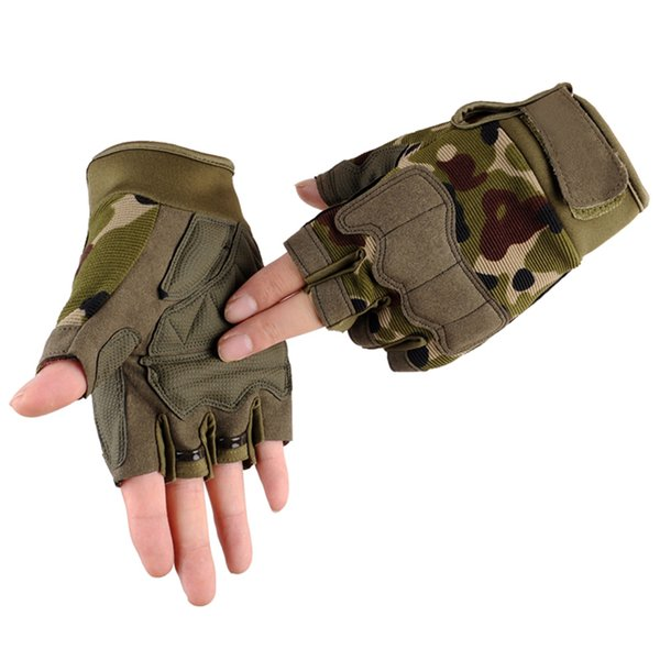 1pair men tactical weight lifting gym gloves sports camouflage fitness training bodybuilding workout wrist wrap exercise glove thumbnail
