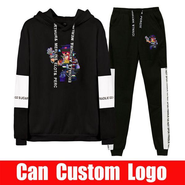 2019 Autumn/Winter 2019 hot game BStars Hip Hop Hoodies Sweatshirts And Sweatpants Men Two Piece Set Hooded Suit Velvet SH190918
