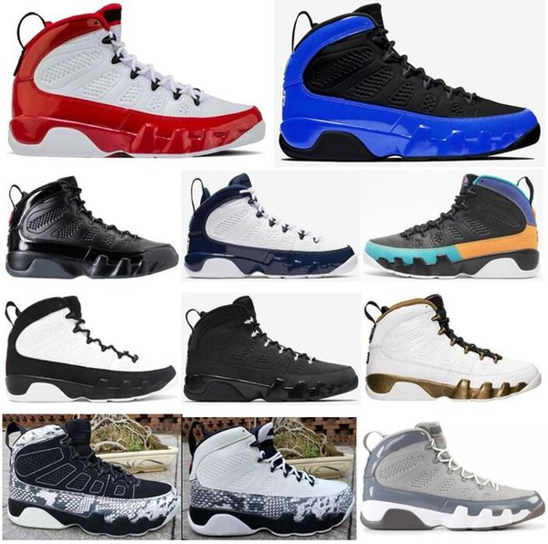 Acheter New 9 Gym Red Racer Blue Dream It Do It Bred Espace UNC Jam Basketball Chaussures Hommes 9s Cool Gray Anthracite Sport Chaussures De Sport