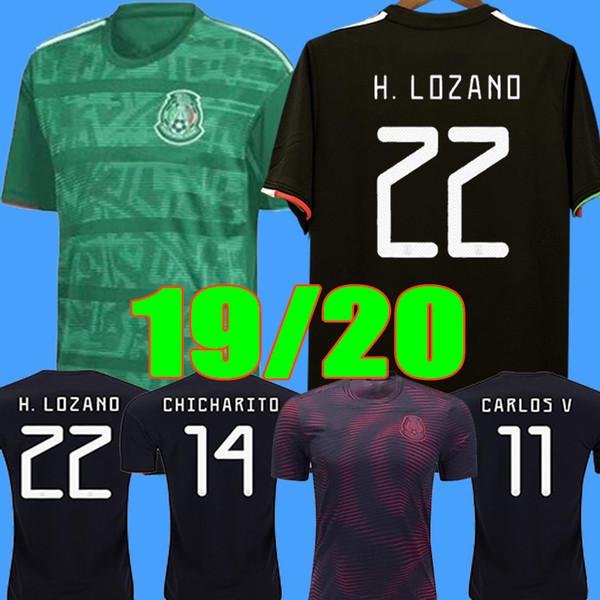 Copa Oro 2019 Camisetas México 19 20 HOMBRE MUJERES NIÑOS camiseta de fútbol 2018 CHICHARITO LOZANO DOS SANTOS camiseta de fútbol niña camisa de futbol