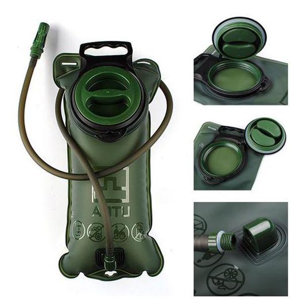 Sacchetto d'acqua di idratazione all'aperto 2L TPU Bocca della bicicletta Vescica sportiva Campeggio Escursionismo Arrampicata Sacchi d'acqua