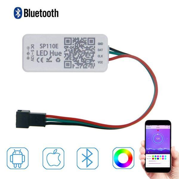 Edison2011 WS2812B WS2811 Controlador LED Bluetooth controlable Aplicación iOS Android Control remoto inalámbrico DC 5V ~ 12V LED Pixel de tira