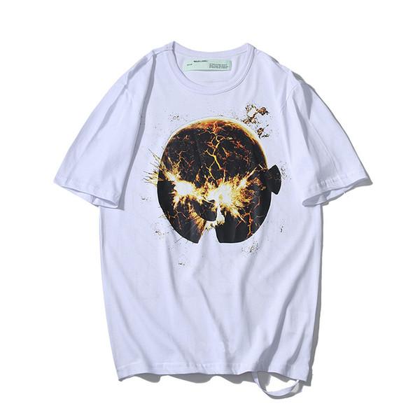 19SS fashion trend men T-shirt designer T-shirt planet explosion printing mens t-shirt hip-hop brand sports short sleeve new store promotion