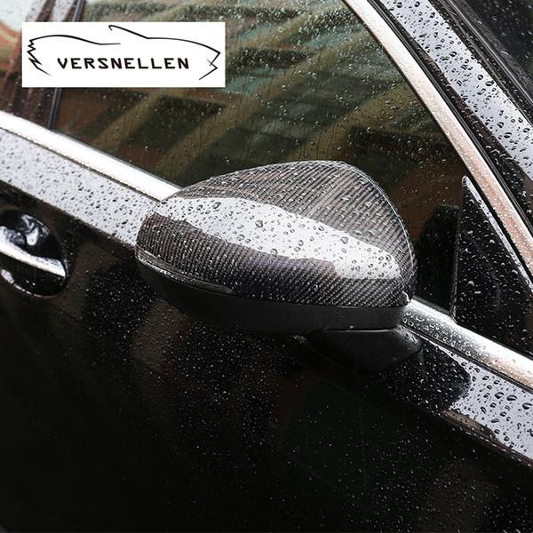 Yeni Bir Sınıf Karbon Fiber Ayna Kapağı Kapaklar Mercedes Benz W177 2019 1: 1 Yedek OEM Araba aksesuarları Yan Ayna Kapağı