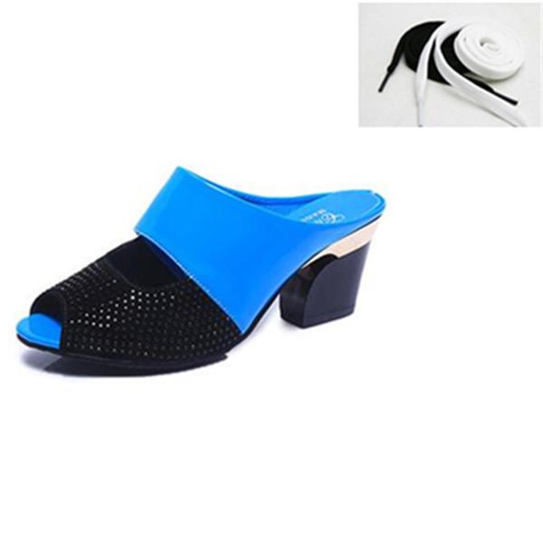 Zapatos de vestir 2019 Verano Nueva versión coreana Cómodas zapatillas antideslizantes inferiores suaves Moda y simple sandalia madura Mujeres