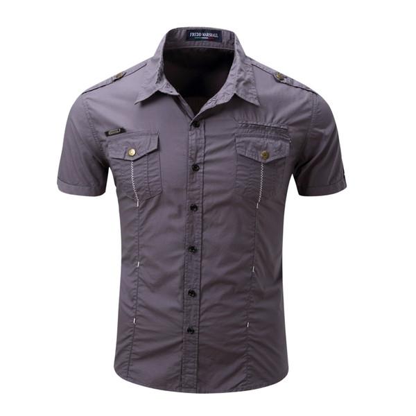 Amerikanischen und europäischen Männerhandel Kurzarm-Shirts für Männer Military Style Mens Designer-Hemden Outdoor-Shirts aus reiner Baumwolle