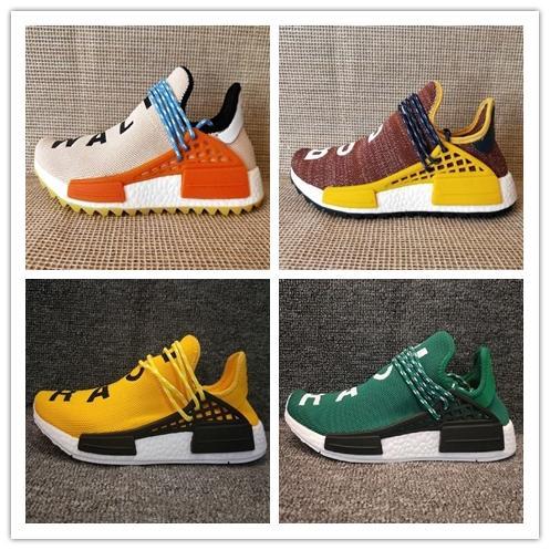 Human Race Men Women Running Shoes Pharrell Williams HU Runner White Black Yellow Red Green Grey Blue Sport Sneaker Sale Online OP239