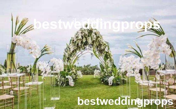 Новый стиль красивые свадебные украшения событие дорожка цветок Кристалл проход стенд для двери свадьба этап украшения