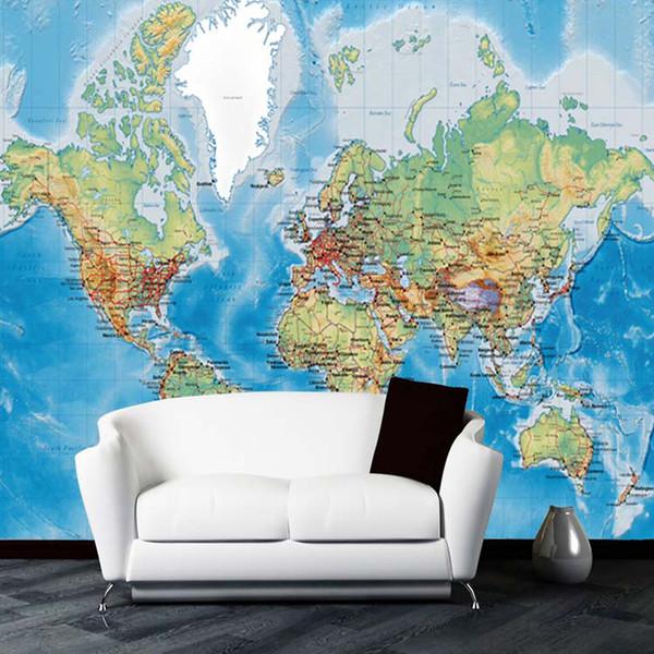 3D Wallpaper Für Wände Benutzerdefinierte Wandbild vlies Tapeten Moderne Weltkarte Wohnzimmer Wohnzimmer Sofa Hintergrund Wohnkultur