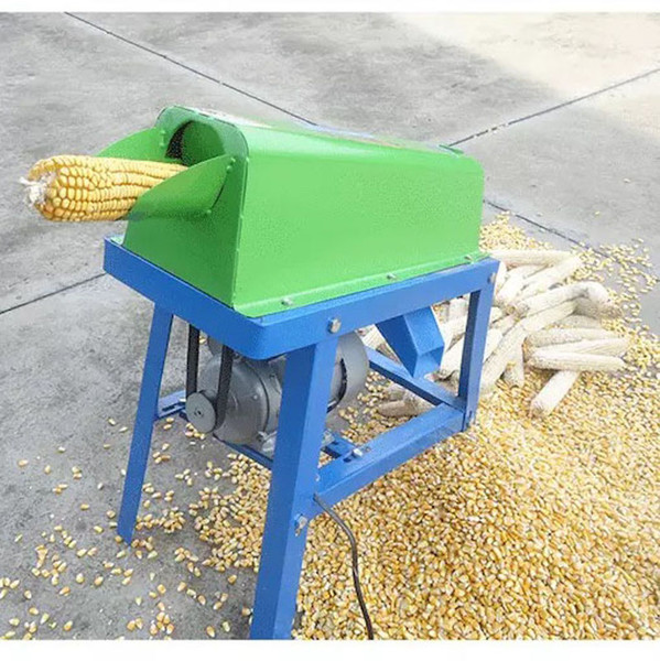 top popular Corn thresher household small maize shelling machine electric 220v corn maize threshing machine corn maize sheller home use 2019