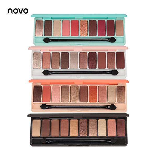 EB002 NOVO Fashion Lidschatten-Palette 10Colors Matte EyeShadow nackte Palette Glitter Lidschatten MakeUp Nude MakeUp Set Korea Cosmetics