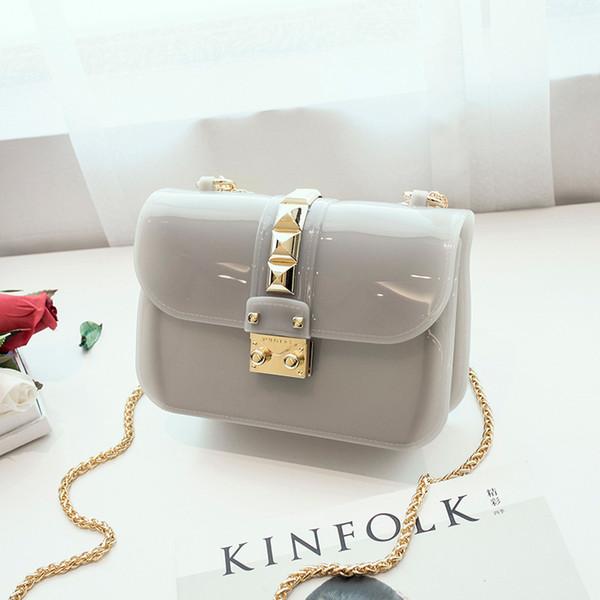 Patch Pattern желе сумка Новой мода Силикагель Silcon Материал пародия плечо сумка Lady Симпатичные сумки в продаже