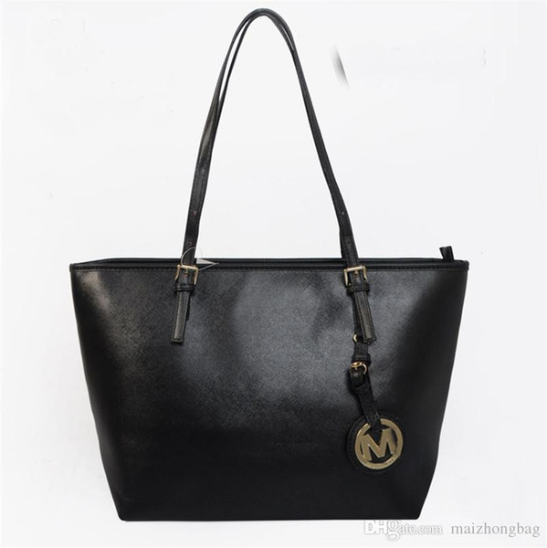 Champagne Original 2019 NEVER FULL cowhide leather handbags color leather shopping bag Never single shoulder bag Free Shipping