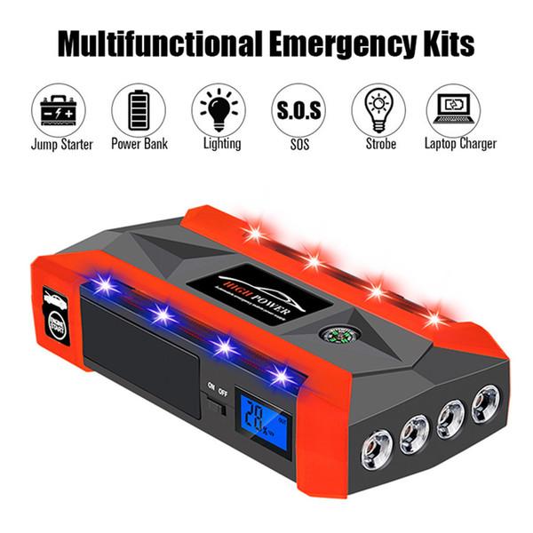 La meilleure vente 2019 produits 20000mAh 12V LCD 4 USB voiture Jump Starter Pack chargeur batterie Power Bank