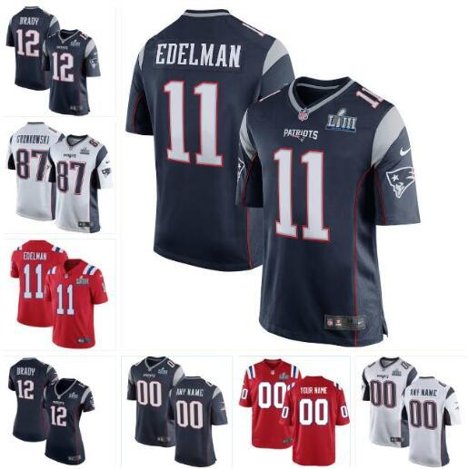sale retailer f476f 391ac 2019 2019 Super Bowl LIII New England Julian Edelman Patriots Jersey  Stephon Gilmore Soccer Rugby College Retro Rugby American Jerseys Stitched  From ...