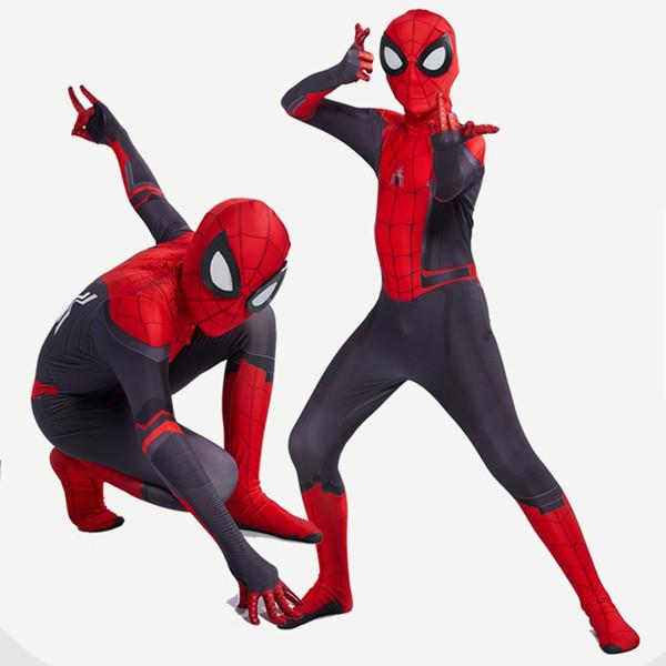Spiderman Kostüm Bodysuit Spider Man Anzug Spiderman Kostüme Overalls Erwachsene Kinder Kinder Spider-Man Cosplay Kleidung Halloween-Kostüm