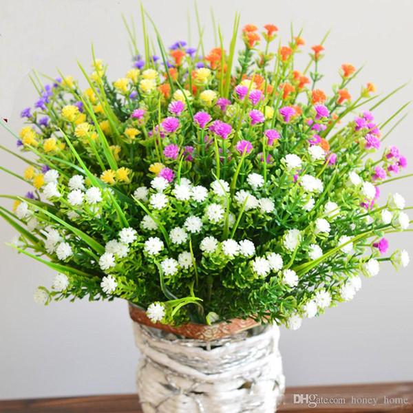 Babys nefes yapay çiçekler plastik sahte kapalı bitkiler çiçekler gypsophila dışında çalılar asılı düğün dekorasyon açık
