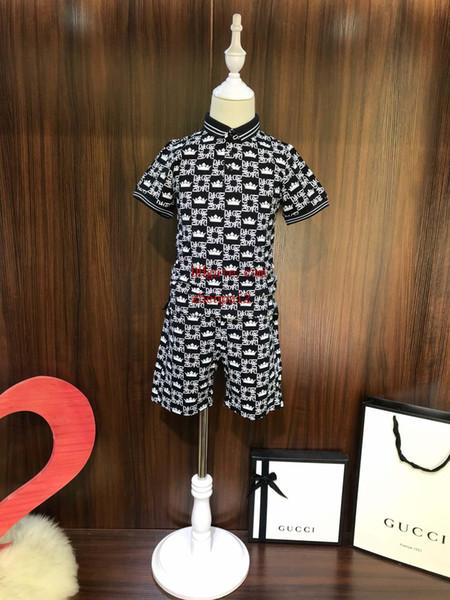 Neue 2019 jungen kleidung marke kleidung kinder zweiteilige set gedruckt buchstaben hochwertige baumwolle kinder kleidung kinder trainingsanzüge