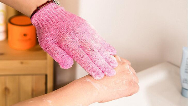 best selling Exfoliating Bath Glove Body Scrubber Glove Nylon Shower Gloves Body Spa Massage Dead Skin Cell Remover 2019