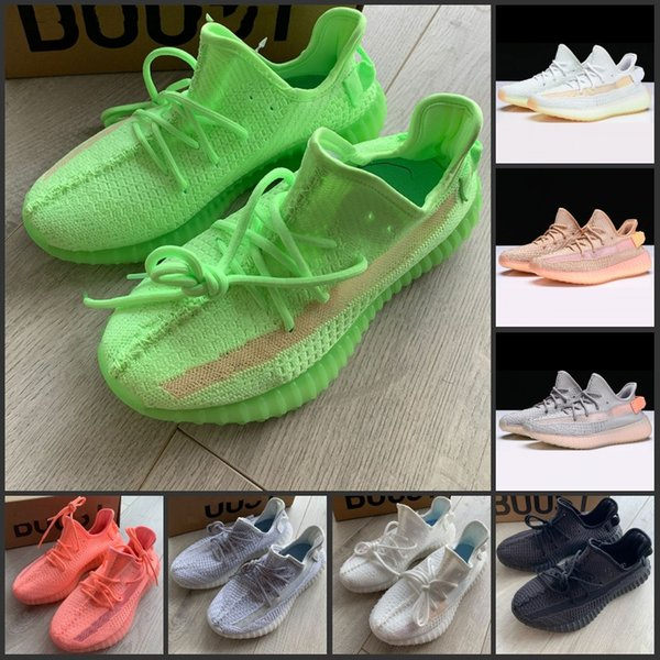 2019 New V2 Static Clay True Form Hyperspace Gid Pink Uomo Donna Scarpe da corsa Kanye West Sneakers originali Scarpe sportive
