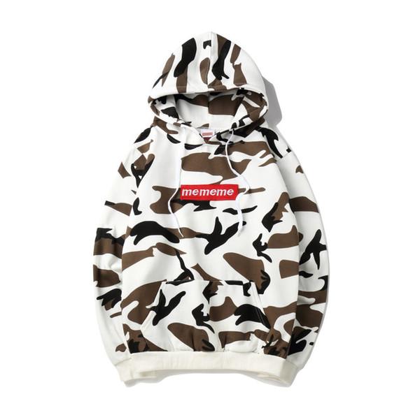 fashion hoodie men luxury suprême hoodies street trend couple pullover US tide brand mens sweatshirt Camouflage milk color women sweatshirts