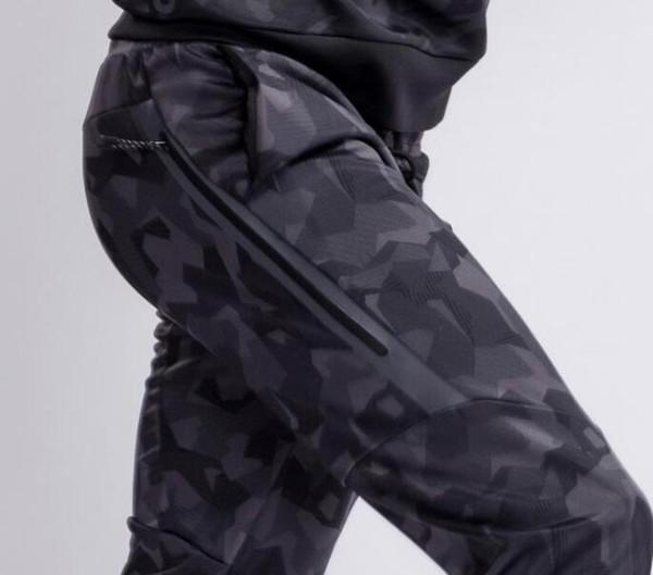 h250 / Pantalones NKOE TECH FLEECE CAMO, pantalones para hombres, pantalones deportivos de camuflaje de algodón con capa de aire O