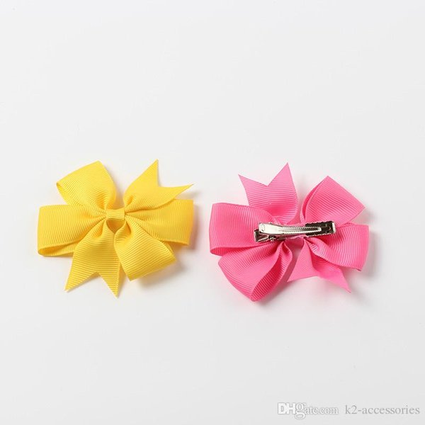 40 Colors Hair Pin for Kids Girls Children Jewelry Baby Hairbows Girl Hair Bows with Clips Flower Hair Clip