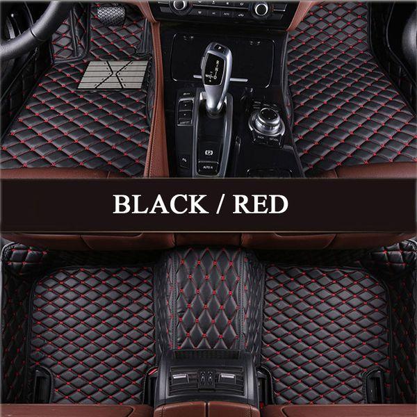 top popular PU leather carpet fit Tesla Model S Model X Fit Alfa Romeo Stelvio Stelvio Giulia Waterproof protection Car floor mats 2019 NEW 2019