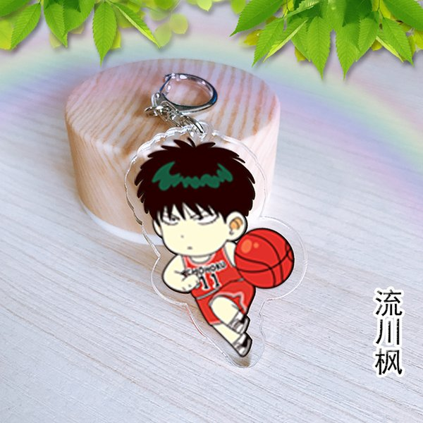 2019new Anime Acrylic Double Sided Pendant Slam Dunk Liu Chuanfeng Sakuragi  Flower Road Fairyland Spread Wholesale Promotional Items Trinke Monkey