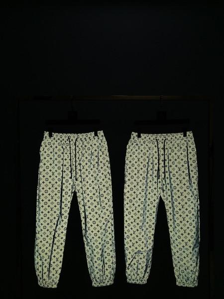 19ss франция париж роскошь ранней осенью последние высокое качество светоотражающие свободные мода спортивные луч брюки мужские дизайнер тег топ горячая распродажа