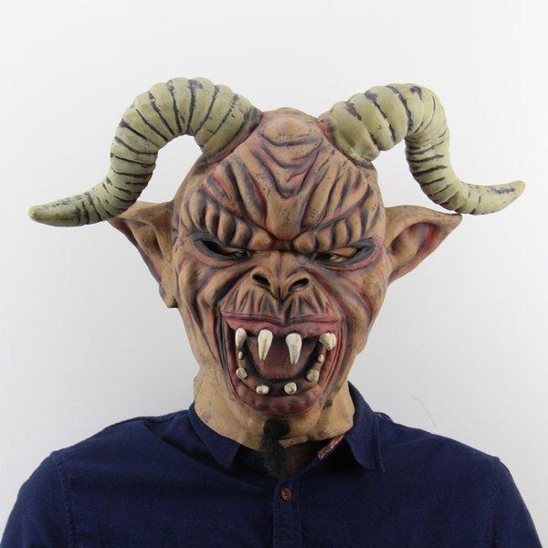 Yeni Cadılar Bayramı Partisi Cadılar Bayramı Horn Canavar Nisan Bir Maske Masquerade Cosplay Bar Kostüm Yetişkin Boyutu Yüksek Kalite Malzemeleri