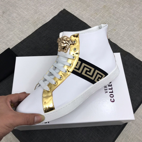 calzados informales de la moda salvaje Los deportes de los hombres de la impresión New22 zapatos cómodos de los hombres de la personalidad de la caja de embalaje original, entrega rápida