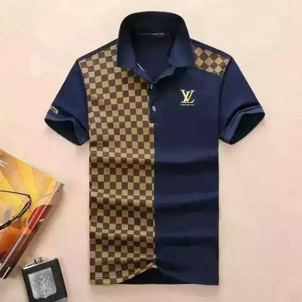 Sommer 2019 Designer-Tag Schlange druckt Kleidung Männer Stoff Brief Polo g T-Shirt Kragen beiläufige Frauen Tshirt T-Shirt-Oberseiten # 42