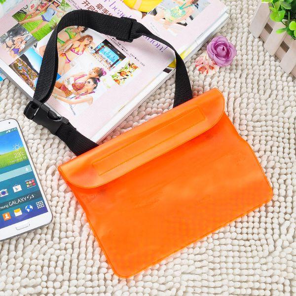 Selada impermeável Celular saco caso de Natação Rafting Mobile Phone impermeável telefone móvel Set saco da cintura Curren