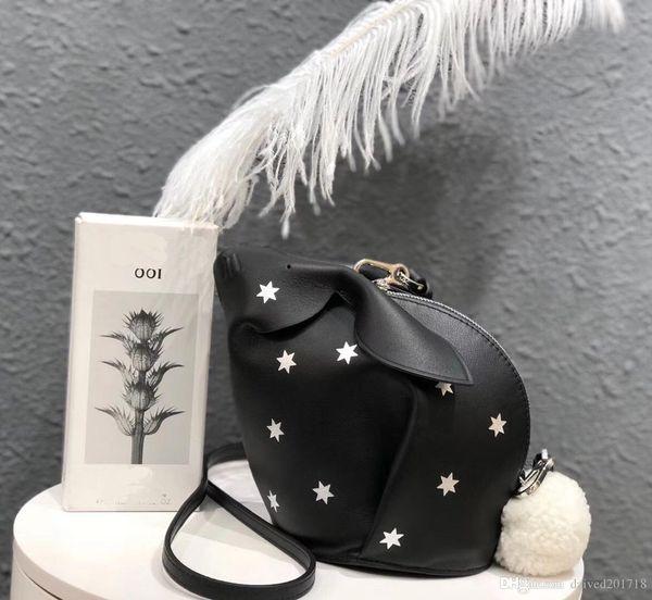 free shipping! orignal real Genuine leather fashion shoulder bag handbag presbyopic mini 0bag Rabbit shape star mobile phonen
