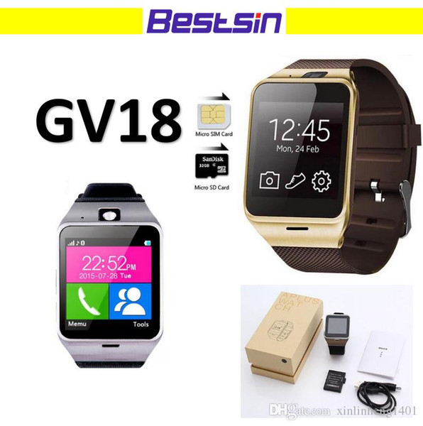 GV18 NFC Aplus smart watches with Camera Square Touch Screen Smartwatch Phone with SIM Card Slot smart watch for IOS Android