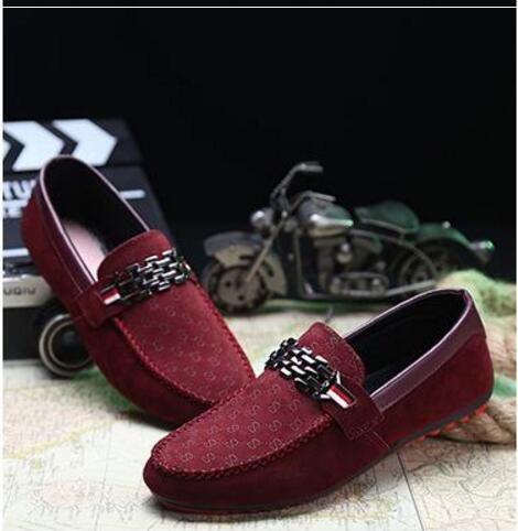 Роскошные Досуг Квартиры мужские дизайнерские повседневные туфли Замша кожа Металл Пряжка свадебные туфли модные кроссовки мужские туфли большого размера мокасины